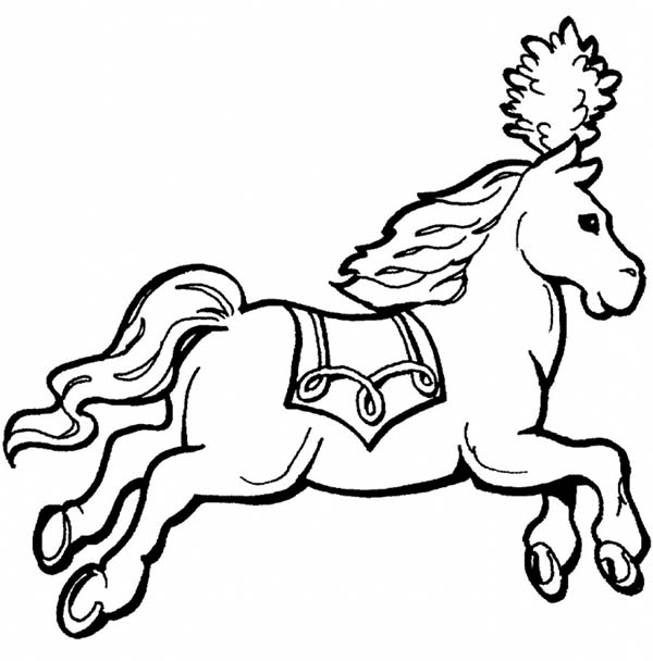 600x608 Royal Carriage Horse In Horses Coloring Page