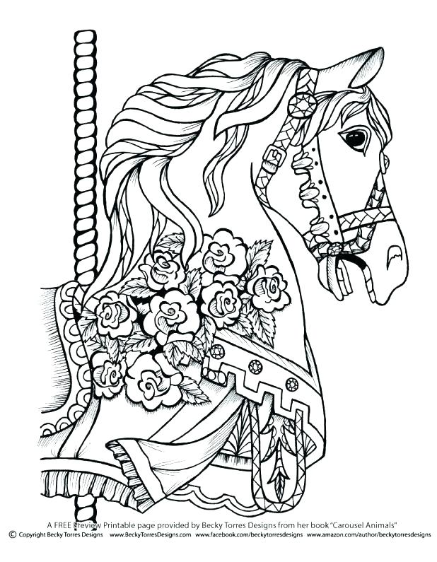 618x795 Coloring Pages Horses