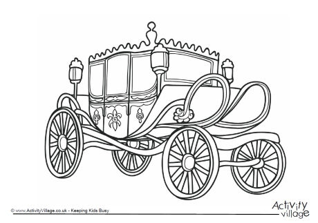 460x323 Horse And Carriage Coloring Pages Free Cinderella Carriage