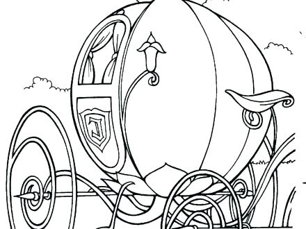 440x330 Carriage Coloring Pages Princess Carriage Coloring Pages
