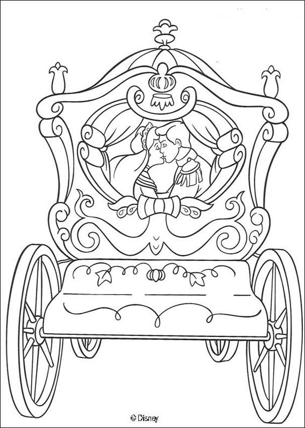 607x850 Cinderella Carriage Coloring Pages