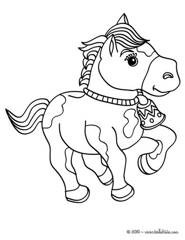 363x470 Horse Coloring Pages
