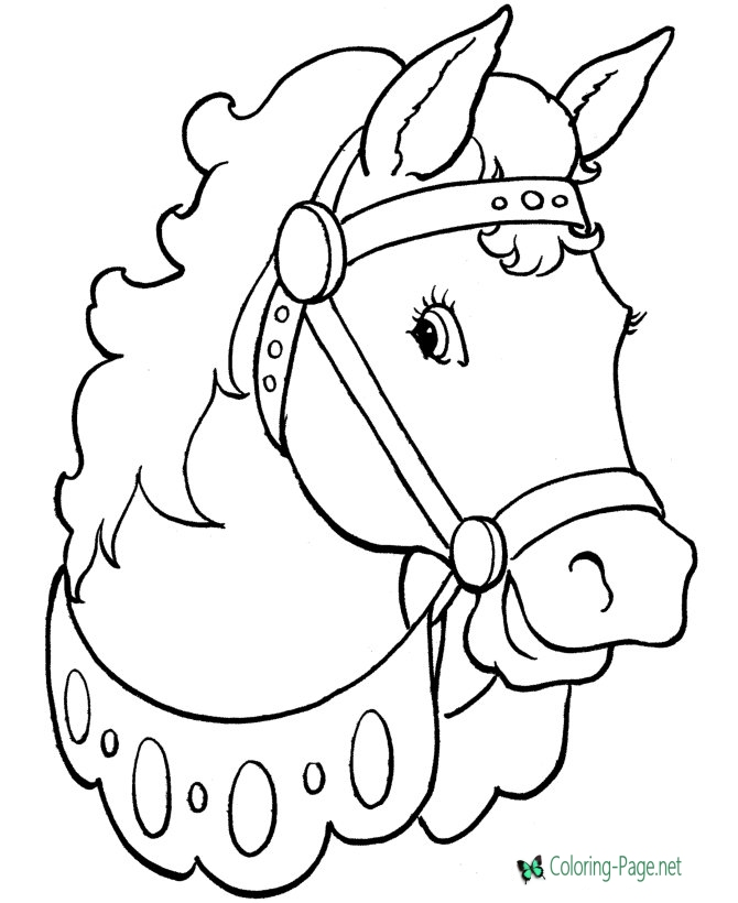 670x820 Horse Coloring Pages