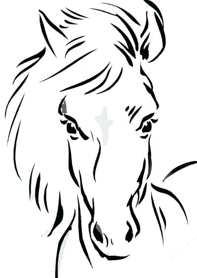 400x563 Horses Coloring Pages Horse Coloring Pages For Young Equestrian
