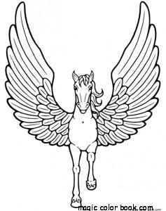237x300 Pegasus Unicorn Horse Coloring Pages Printable Free