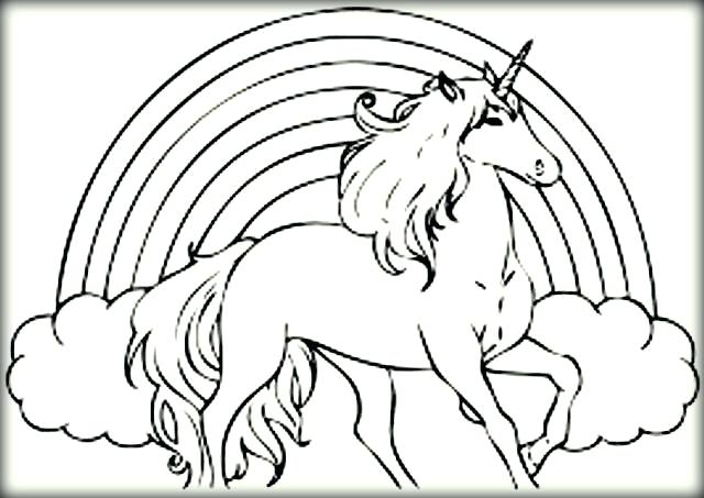 640x453 Unicorn Horse Coloring Pages As Well As Unicorn Coloring Pages