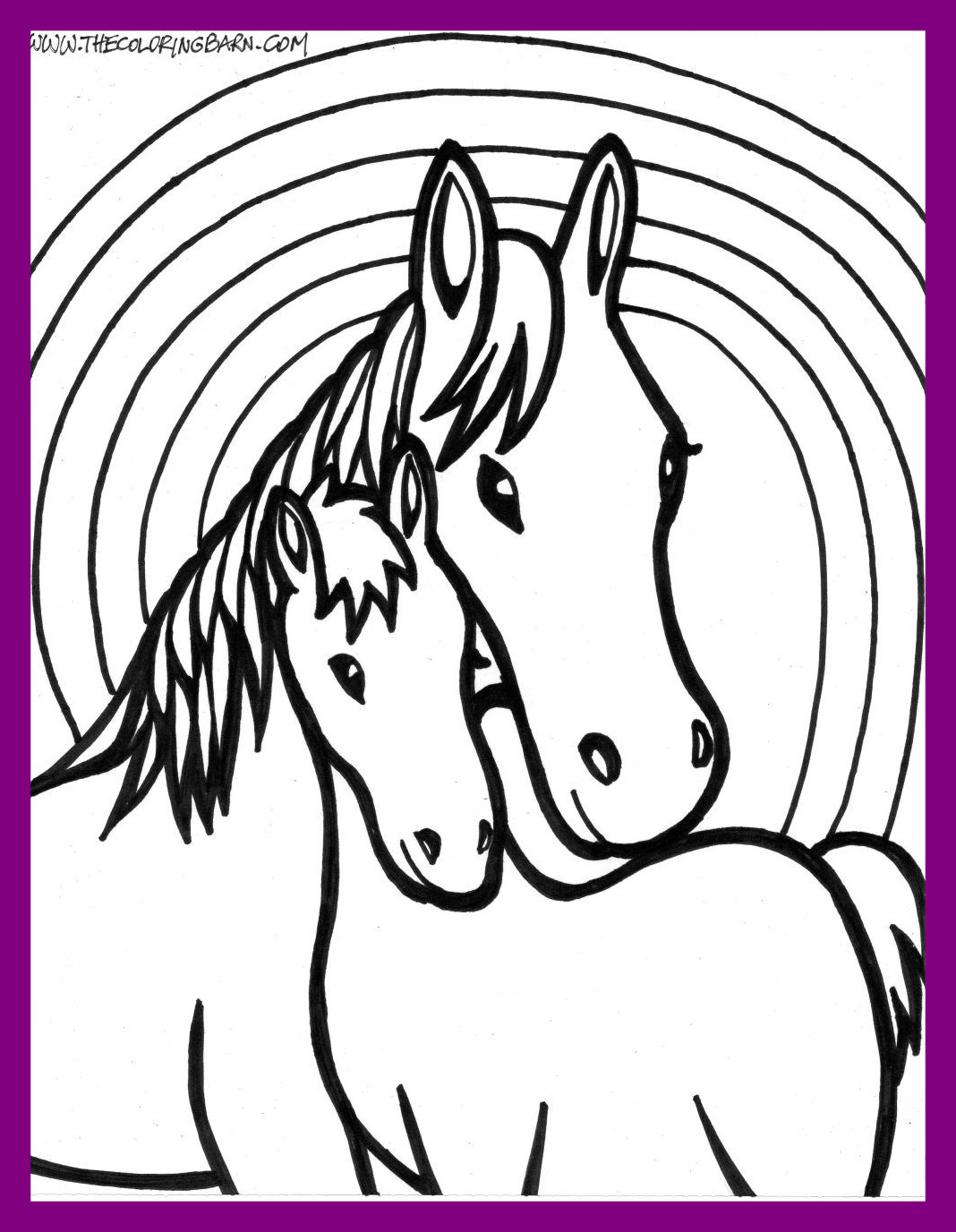 Horse Coloring Pages Easy