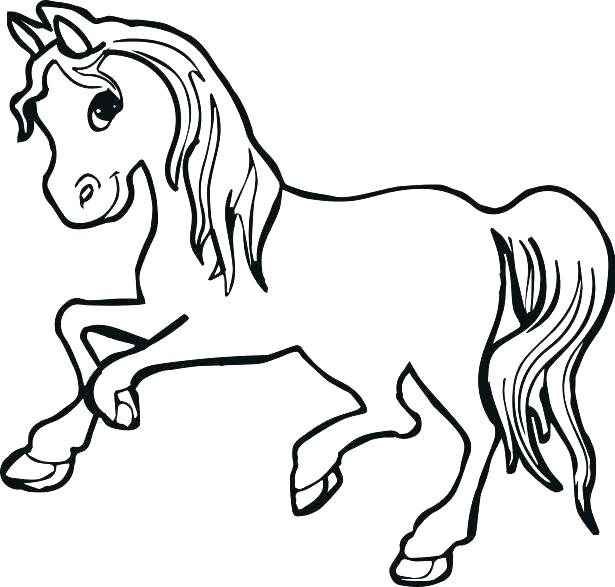 Horse Coloring Pages Easy at GetDrawings.com | Free for ...