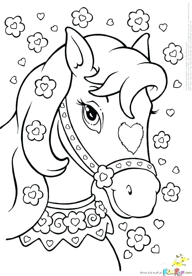 671x963 Horses Coloring Pictures