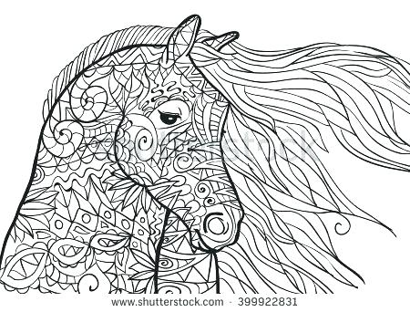 450x342 Horse Coloring Page