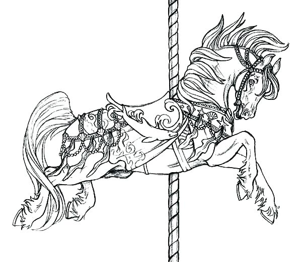 600x522 Horse Coloring Pages For Adults