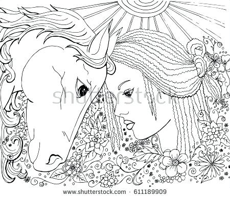 450x388 Horse Coloring Pages For Adults