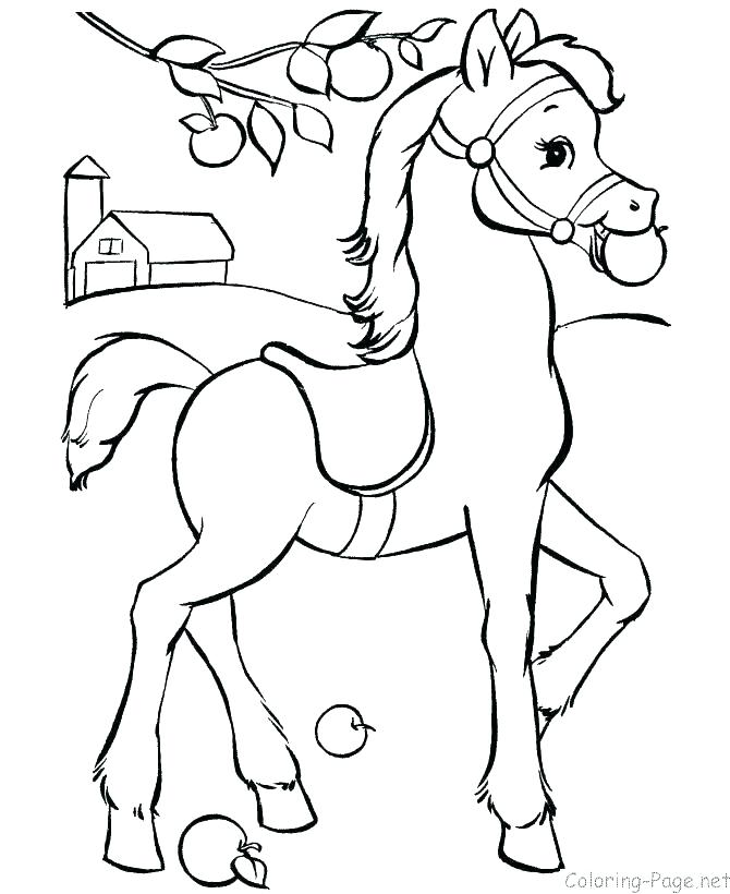 670x820 A Coloring Page Of A Horse Horse Head Coloring Page Printable