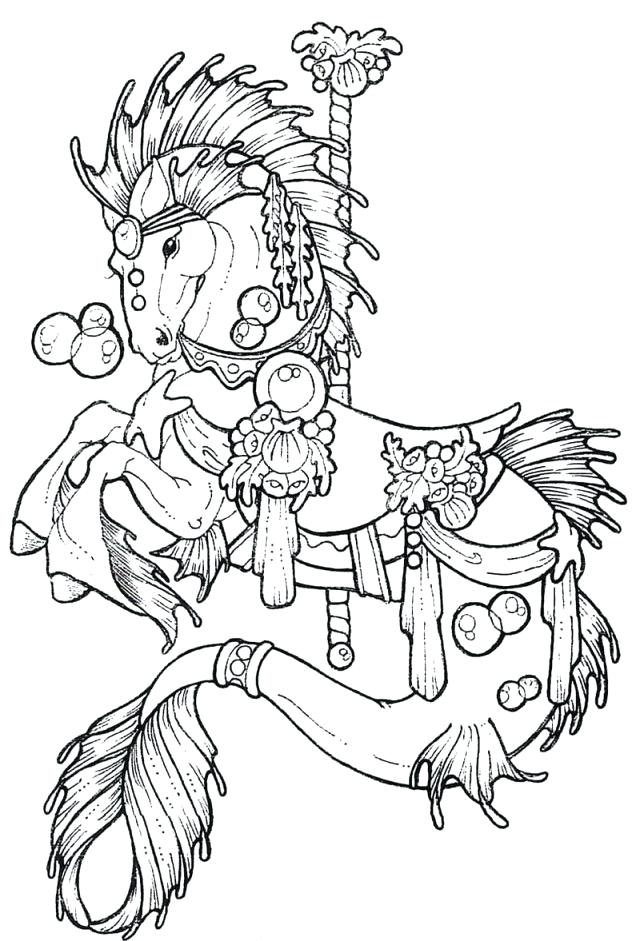 640x941 Carousel Horse Coloring Page Horse Printables Coloring Pages Horse