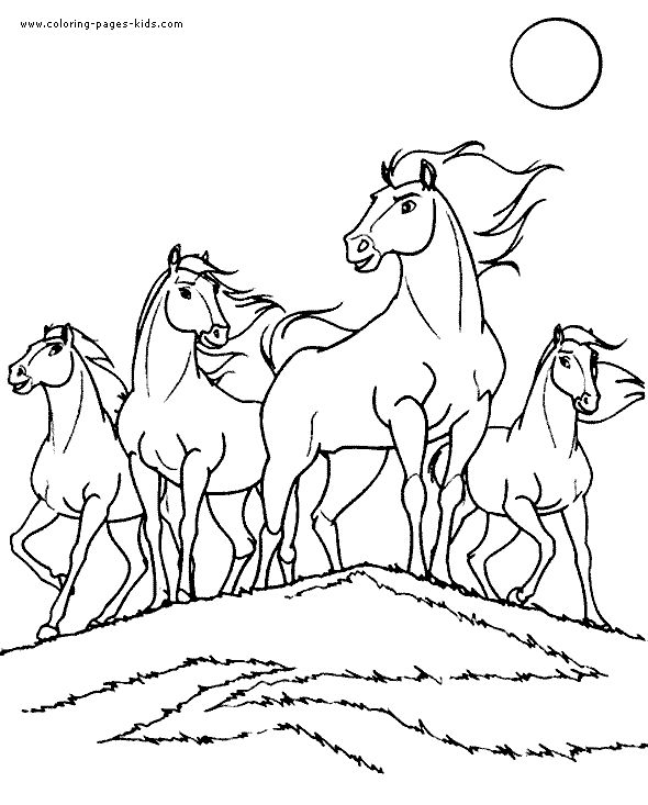 590x733 Free Coloring Pages For Girls To Print Horses Printable Coloring