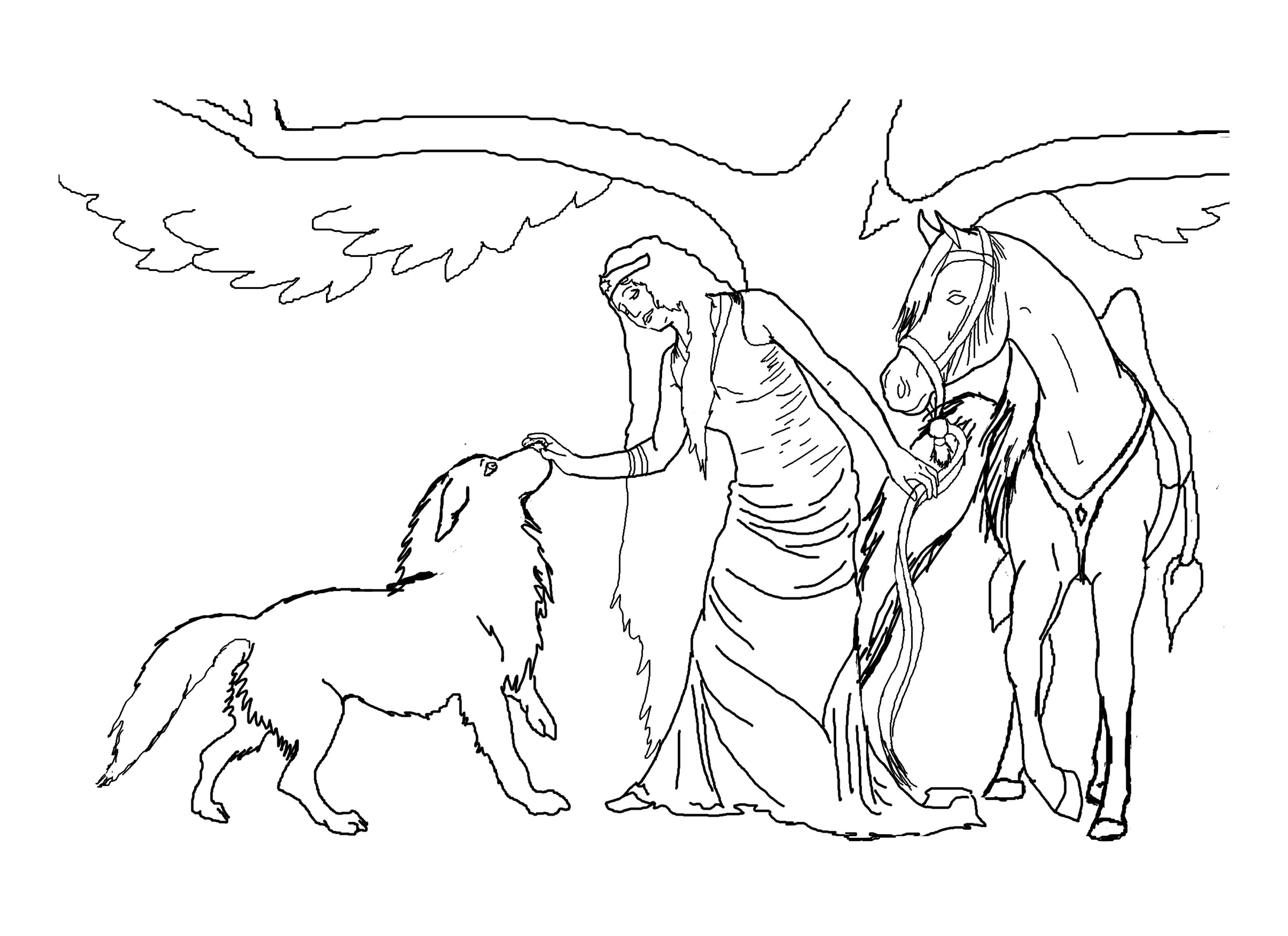 3300x2400 Free Horse Coloring Pages For Download