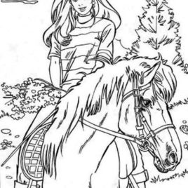 268x268 Girl Riding Horse Coloring Pages Coloring Pages
