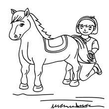 220x220 Girl And Horse Coloring Pages