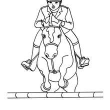 220x220 Girl On A Jumping Horse Coloring Pages