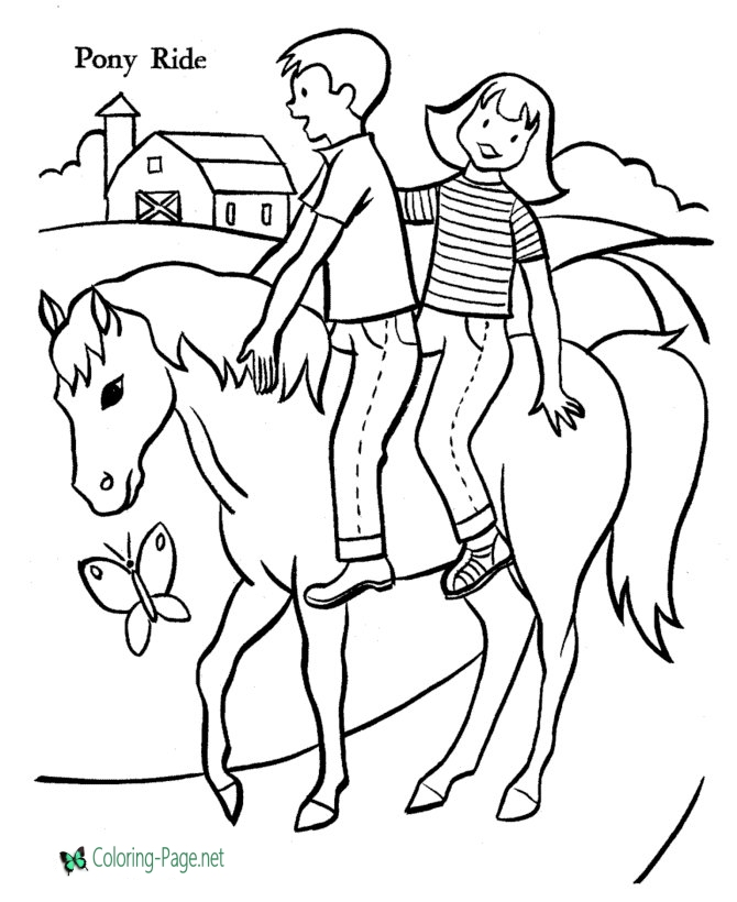 670x820 Horse Coloring Pages Girl Boy Riders
