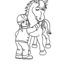 220x220 Equestrian Coloring Pages