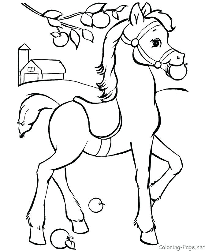 670x820 Horse Color Page Horse Color Page Carousel Horse Coloring Pages