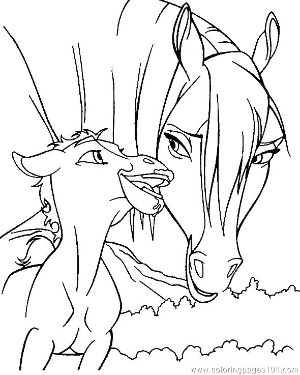 590x737 Printable Coloring Pages Of Realistic Horses Kids Coloring