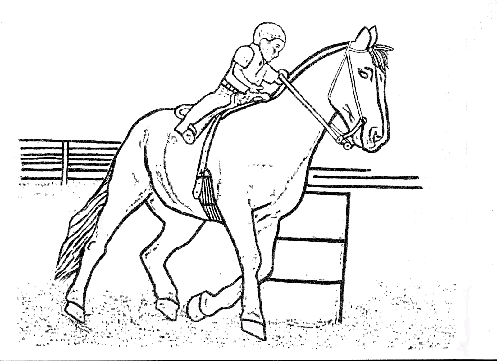 1600x1164 Race Horses Color Pictures Print Coloring Pages