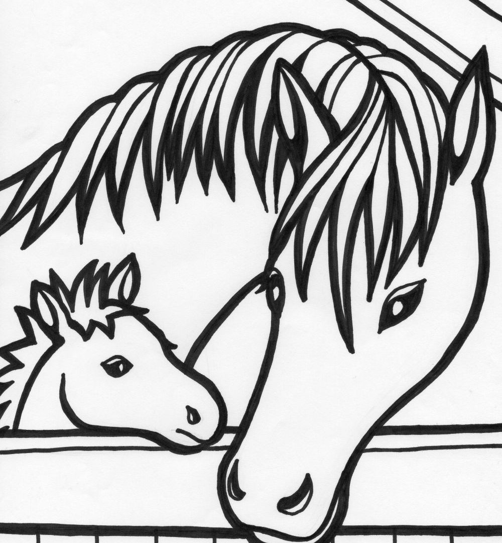 Horse Coloring Pages Online At Getdrawings Free Download