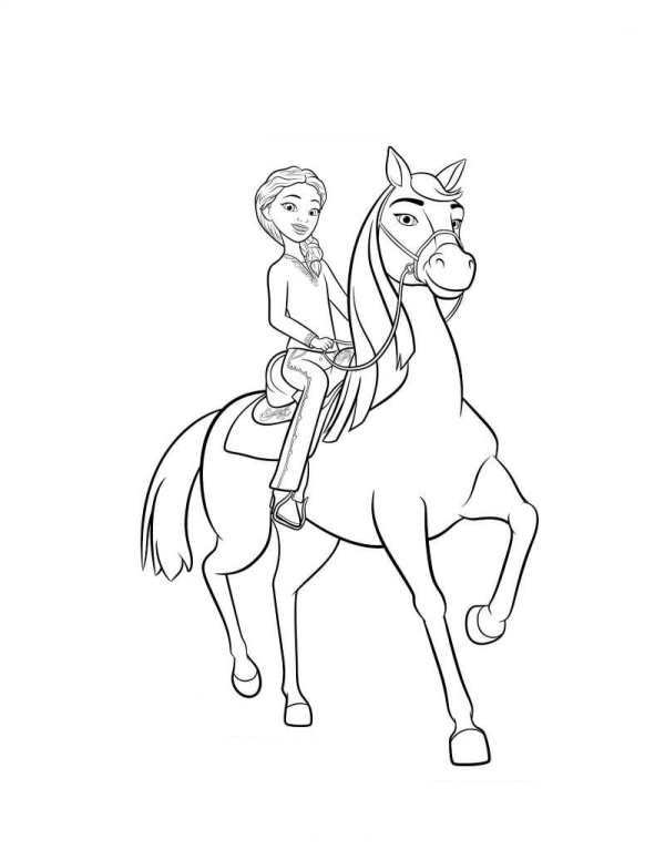 600x776 Kids N Coloring Pages Of Spirit Riding Free