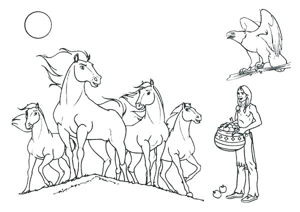 600x424 Spirit Horse Coloring Pages Horse Coloring Page Horses Coloring