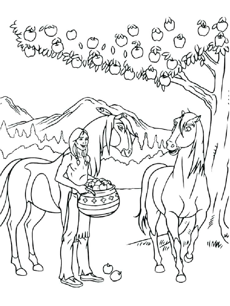 750x1000 Spirit The Horse Coloring Pages Spirit Coloring Pages Free