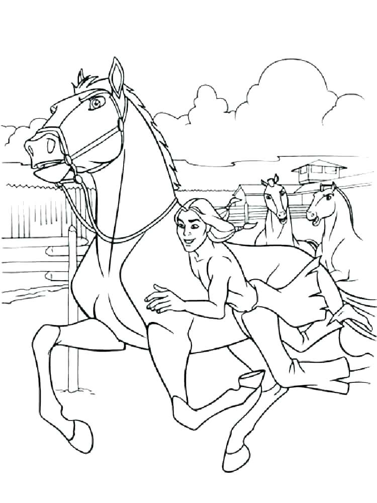 750x1000 Horse Coloring Pages Spirit