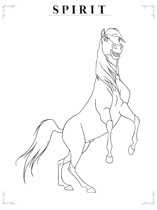 600x800 Spirit Horse Coloring Pages Printable
