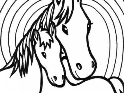 Horse Galloping Coloring Pages