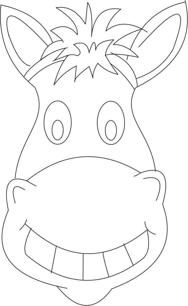 600x978 Mask, Horse Mask Coloring Page Kids Costumes