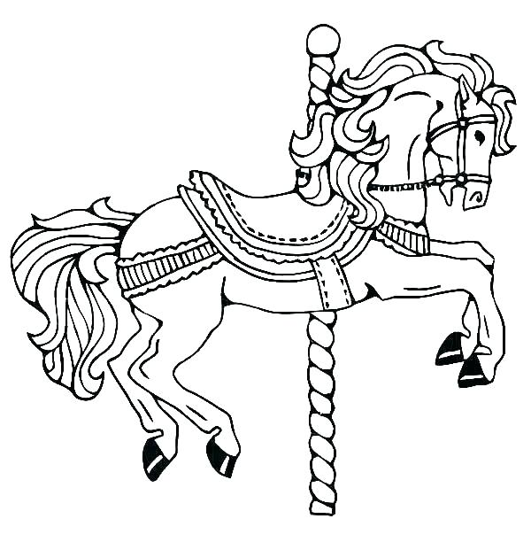 600x612 Coloring Page Horses