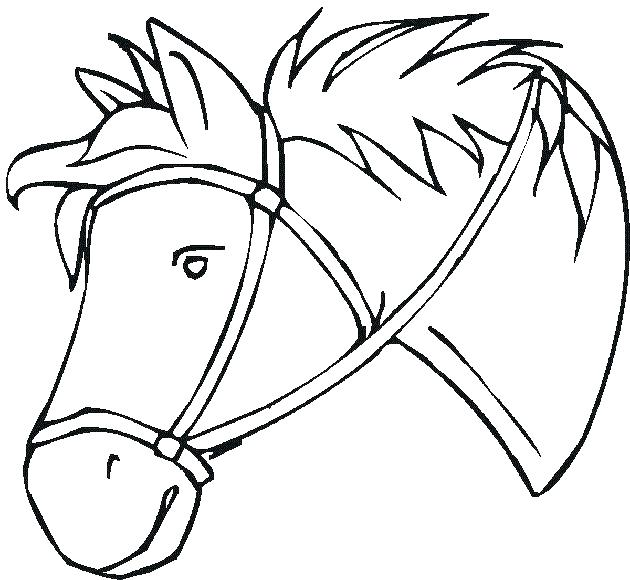 630x580 Horse Head Coloring Pages
