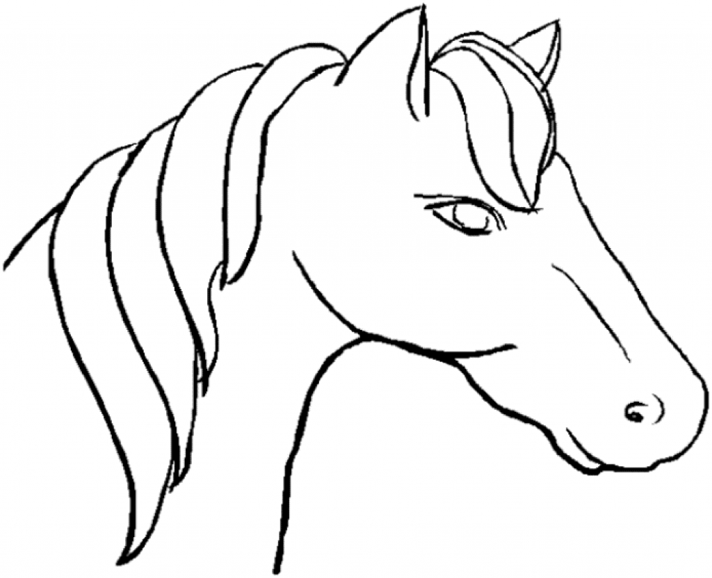1024x832 Coloring Pages Horse Head Book Page Sheets Printable Profile