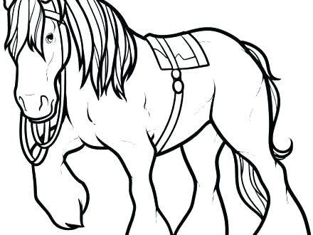 440x330 Coloring Pages Of A Horse Also Coloring Pages Of A Horse Simple