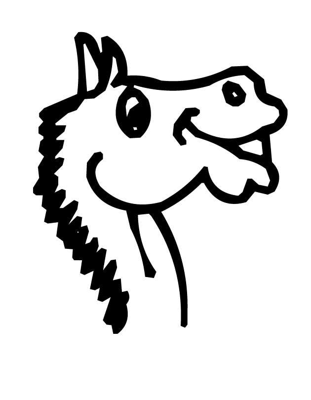630x810 Horse Head Coloring Page