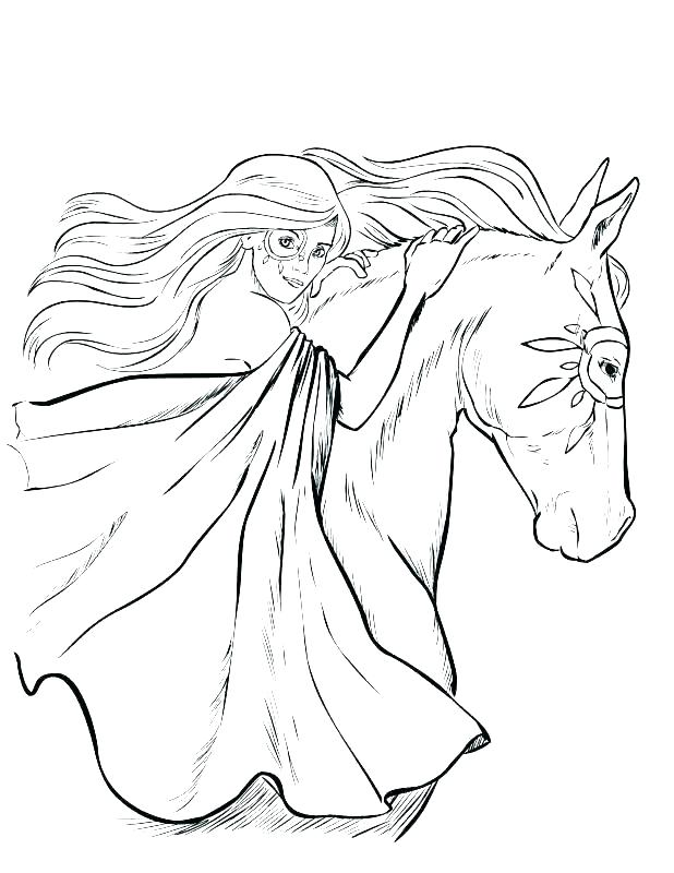 618x800 Horse Head Coloring Pages Horse Head Coloring Page For Kids Free