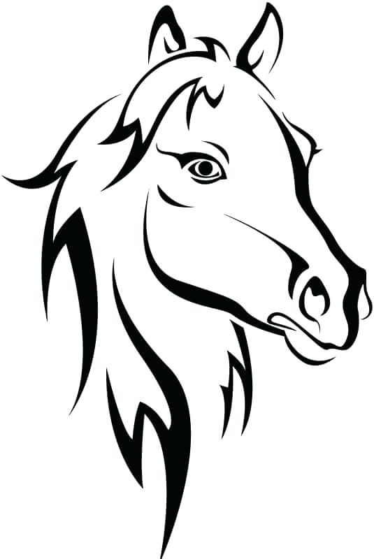 Horse Head Coloring Pages To Print At Getdrawings Com Free For