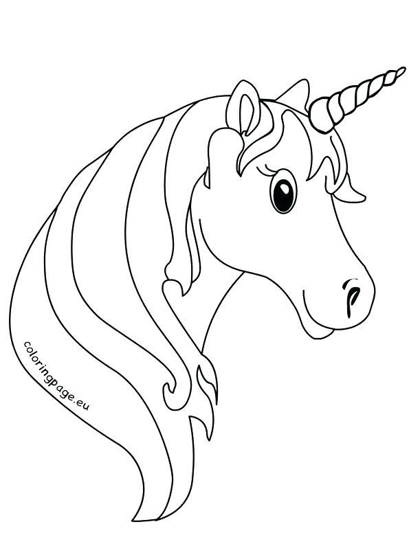 595x808 Pixel Coloring Pages Head Coloring Page Unicorn Face Coloring