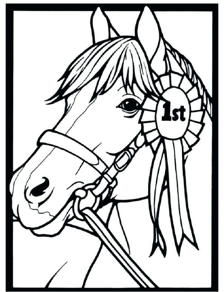 739x960 Coloring Pages Of A Horse Also Coloring Pages Of A Horse Simple