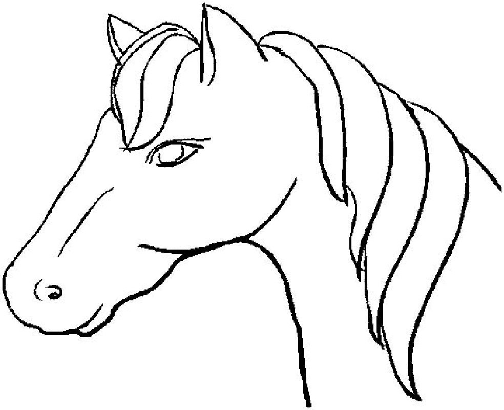 984x800 Tag Horse Head Coloring Pictures To Print Page Photos For Alluring