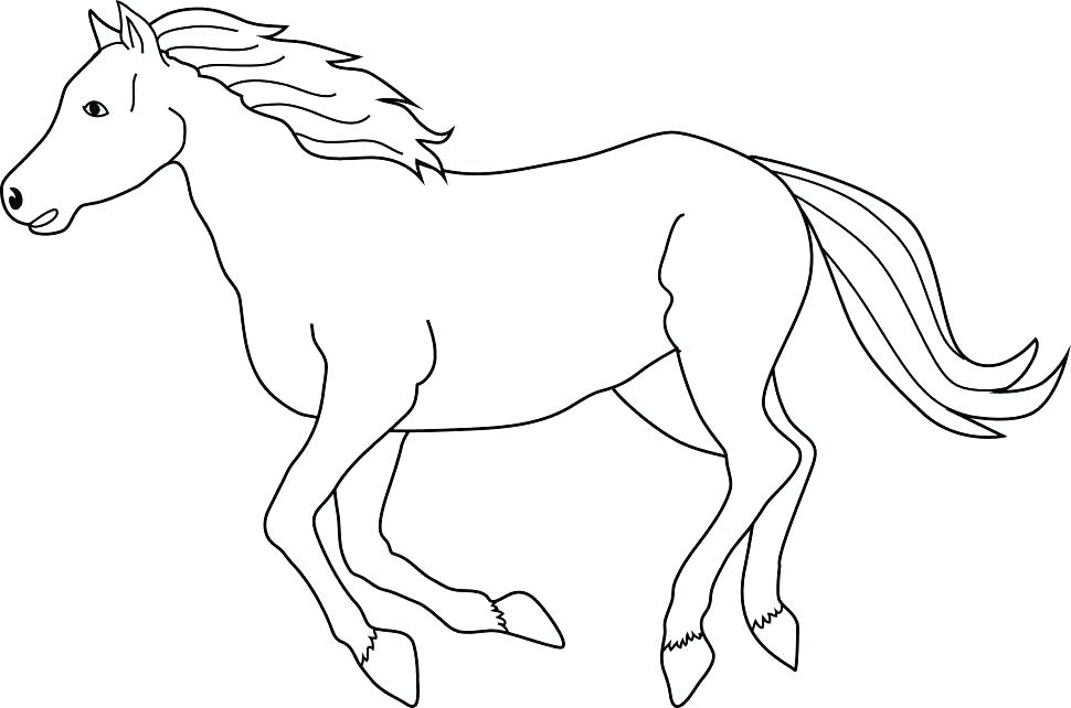 970x642 Horse Head Coloring Pages