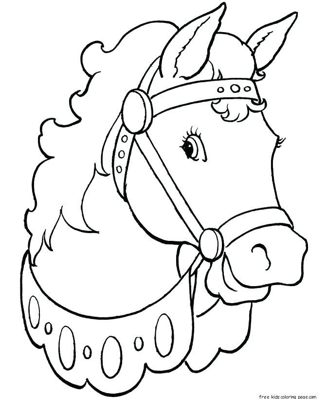 670x820 Horse Mask Printable