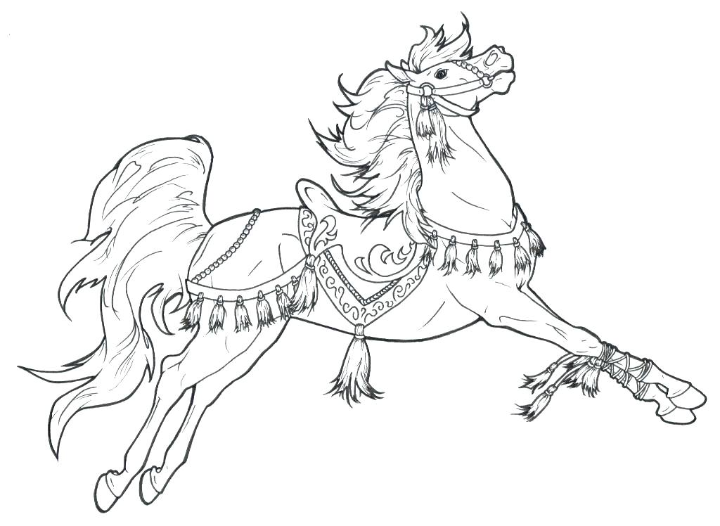 1024x748 Horse Head Coloring Free Horse Coloring Pages Carousel Horse