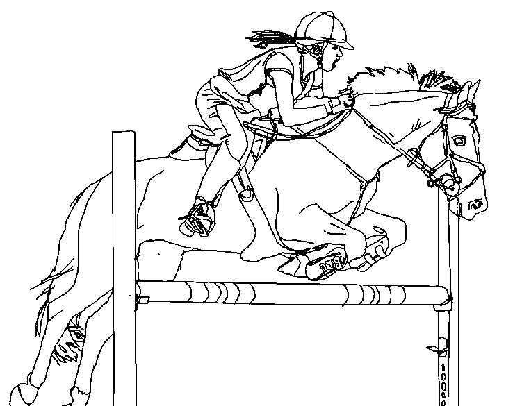 751x585 Horse Jumping Coloring Pages